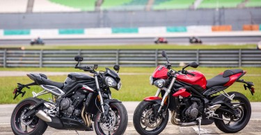 Street Triple RS (left) and Street Triple S (right)