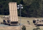 Soldiers preparing a unit of the Terminal High Altitude Area Defense (THAAD)  system near Seoul.