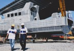 A boat being built at the PME site in Kuala Perlis.