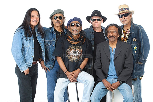 Jim Madasamy (second from right) with the rest of Blues Gang line-up.