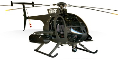A MD 530-G light attack helicopter