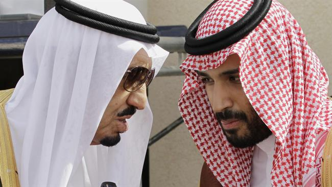 King Salman (left) and Prince Mohammed