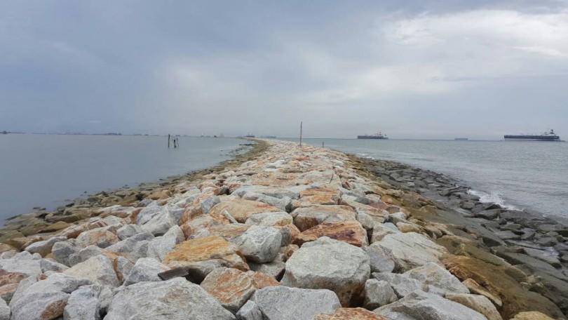 Tanjung Piai's breakwater.