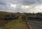 Tanks heading towards Zimbabwe's capital Harare.