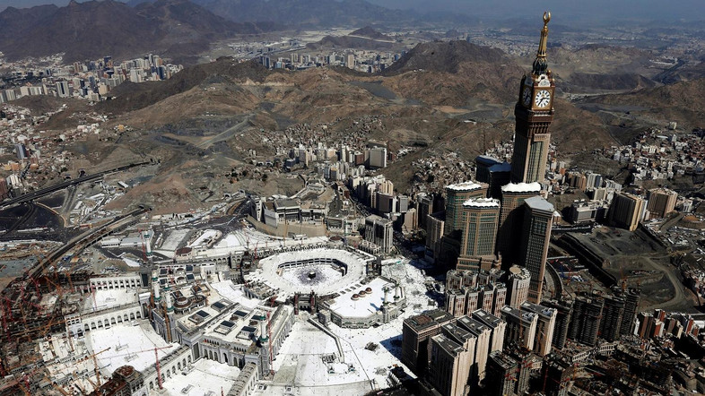 Aerial view of Kaaba at the Grand mosque in Mecca on Sept 13, 2016.