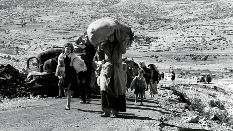 Palestinians in 1948, five months after the creation of Israel, leaving a village in the Galilee