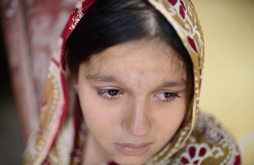 Anika Dhar, 18, a Hindu Rohingya is among the few non-Muslims of her community who escaped the violence in Myanmar which killed her husband and thousands others.