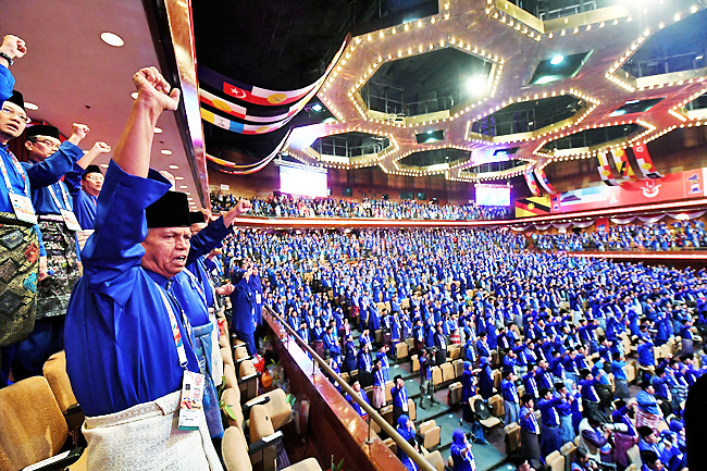 Conclusion of the 2017 Umno general assembly.