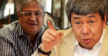 Zaid (left) has been ticked off by the Sultan.