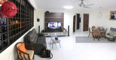 The inside of a Singapore HDB flat unit in Serangoon Avenue.
