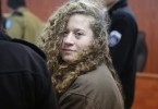 Ahed Tamimi in court yesterday.