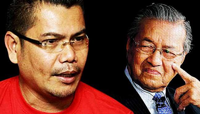 Jamal (left) and Mahathir.