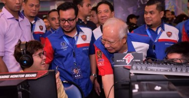 Najib at the Malaysia Cyber ​​Games 2018 at PWTC on Jan 14.