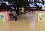 A flood-hit school in Kuantan yesterday.