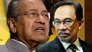 Mahathir (left) and Anwar -- leaders and former foes from 20 years ago who want to re-invent the wheel and oust Najib.