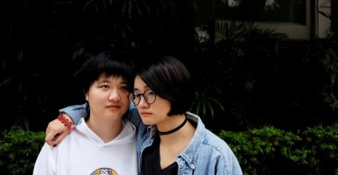 Zhang Leilei (L), 25 and Xiao Meili, 28, Chinese women's rights activists, have called on Chinese universities to prevent sexual harassment.