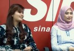 Dyana Sofya (L) and Dira