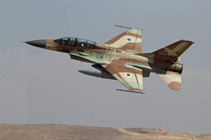 An Israeli F16 twin seater similar to the one shot down yesterday