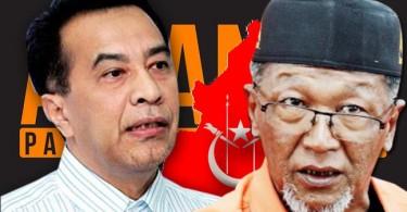 Amanah vice-president Husam Musa and Kelantan Amanah chairman Wan Abd Rahim Wan Abdullah