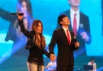 Pastor Kong Hee pictured with his wife, Sun Ho