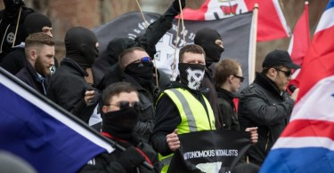 Protest by a far-right group in Britain. (Photo an illustration only.)