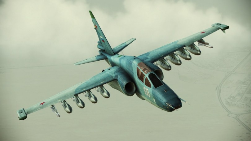 The SU25 is a ground attack aircraft