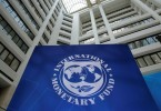 International Monetary Fund logo is seen