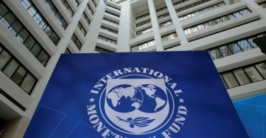 International Monetary Fund logo is seen