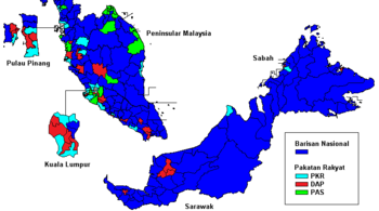 Parliamentary performance by various parties in GE13.