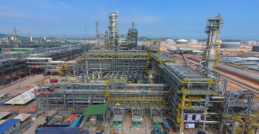 The refinery at the Pengerang complex.