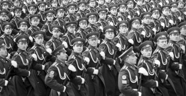 Cadets of the KGB Moscow Higher Frontier Guards Command Academy at the parade to mark the 55th anniversary of the Great October Socialist Revolution on the Red Square in Moscow in November 1972.