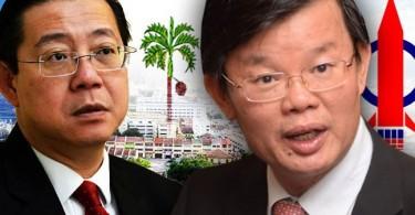 Penang Chief Minister Lim Guan Eng and Penang DAP chairman Chow Kon Yeow