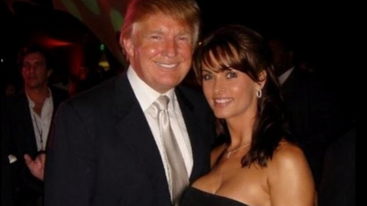 McDougal (right) with Trump.