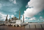 The famous crystal mosque in Kuala Terengganu