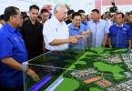 Prime Minister Datuk Seri Najib Razak opening the Muar Furniture Park and launching the Bumiputera Furniture Entrepreneurs Scheme (SuperBumi) in Bakri, Muar today.