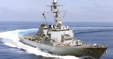 A Higgins guided-missile destroyer