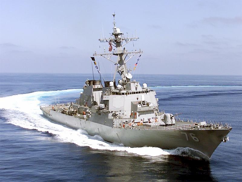 A Higgins guided-missile destroyer