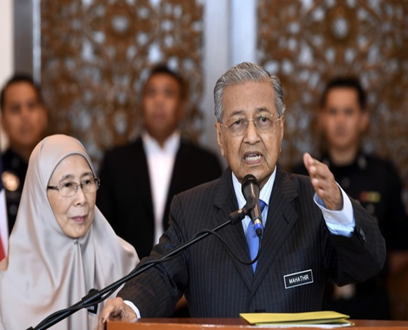 Prime Minister Tun Dr Mahathir Mohamad and his deputy Datuk Seri Dr Wan Azizah Wan Ismail