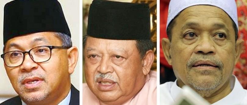 The key players -- (from left) Azlan, Raja of Perlis, Shahidan.