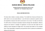 Media release by Ministry of Finance Malaysia.