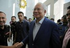 Datuk Seri Najib Razak arriving at MACC headquarters.