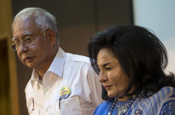 Datuk Seri Najib Razak and wife Datuk Seri Rosmah Mansor