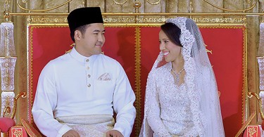 Nooryana Najwa Najib and her husband Daniyar Kessikbayev  on their wedding day.