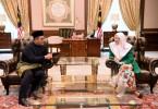 Selangor Menteri Besar Amirudin Shari met Datuk Seri Dr Wan Azizah Wan Ismail today.