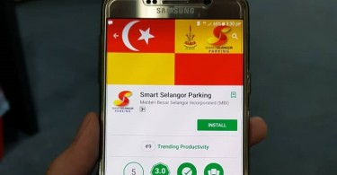 Smart Selangor Parking application in google play store
