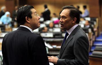 Lim Guan Eng and Datuk Seri Anwar Ibrahim