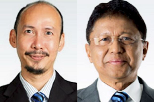 Datuk Mustafha Abd Razak (left) and Tan Sri Abdul Aziz Zainal.