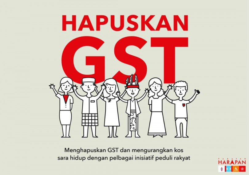 The pledge to remove GST was one of Pakatan Harapan's election promise