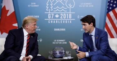 Donald Trump and Justin Trudeau