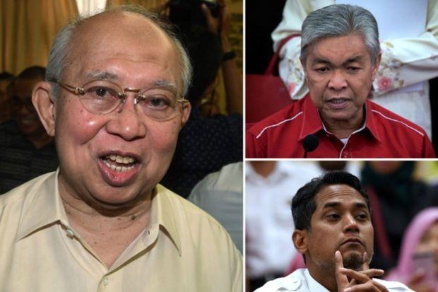 (Clockwise from left) -- Ku Li, Zahid and Khairy